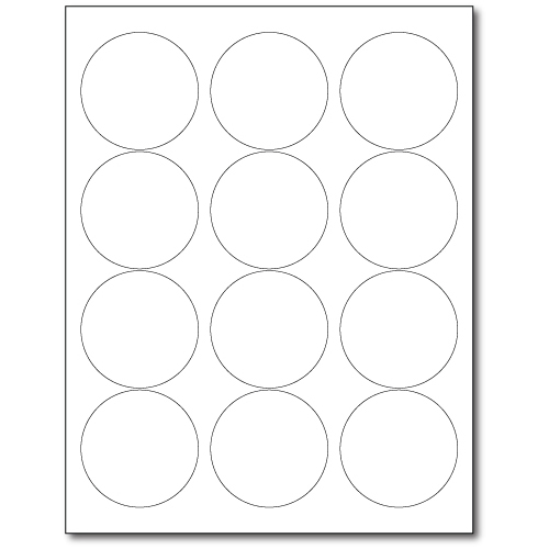 graphic relating to Removable Printable Labels named 2.5within. Circle Laser or Inkjet Labels - White Detachable