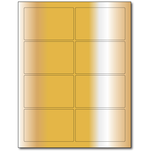 3 75in  X 2 438in  Laser or Inkjet Labels - Gold Foil